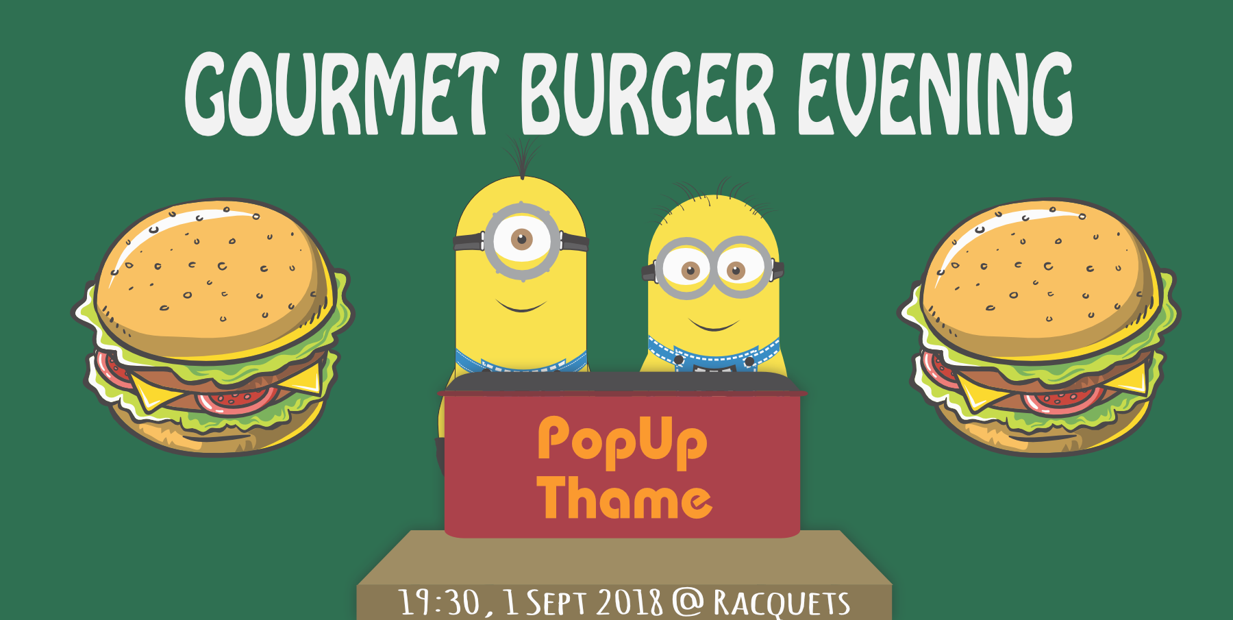 Gourmet Burger Evening at Racquets, Thame